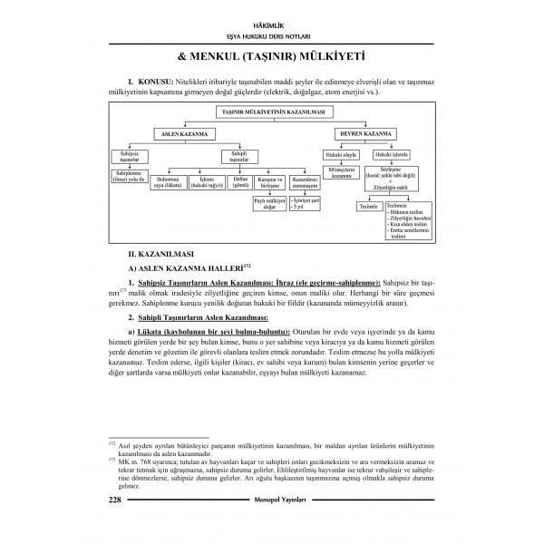 MEDENİ HUKUK DERS NOTLARI VE SORULARI – 6-1
