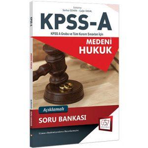 KPSS A Grubu Medeni Hukuk Açıklamalı Soru Bankası 657 Yayınları