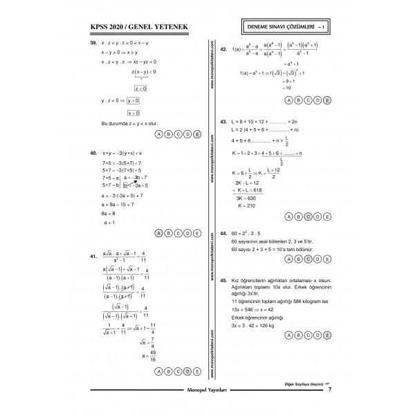 GENEL YETENEK GENEL KÜLTÜR 5'Lİ DENEME – 2-1