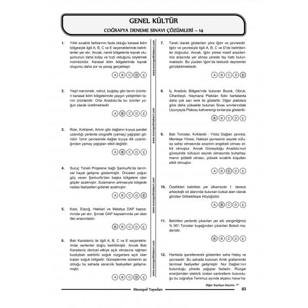 KPSS COĞRAFYA 15 DENEME SINAVI – 5-1