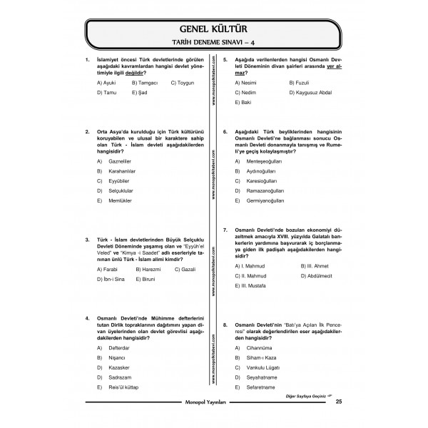KPSS TARİH 15 DENEME SINAVI-1-1